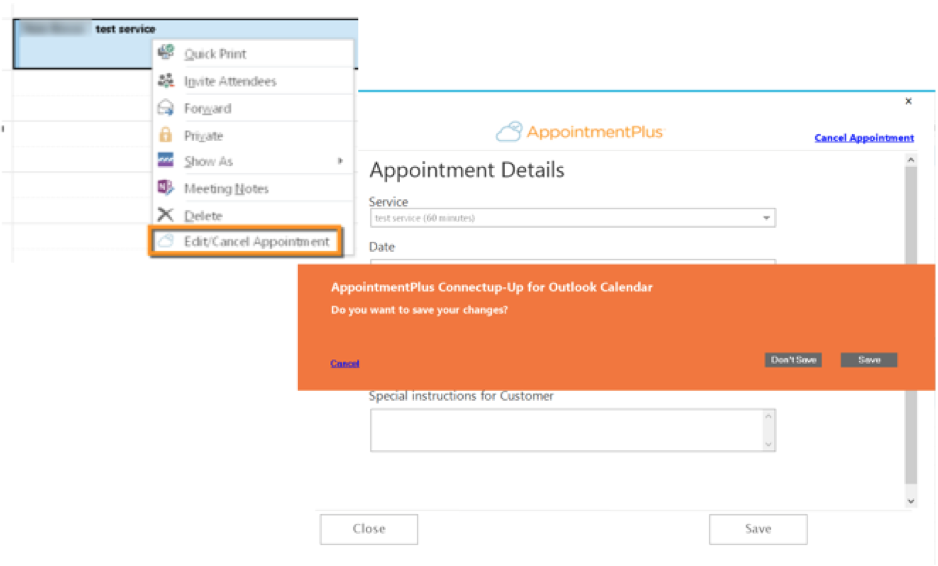 Connect-Up for Microsoft Outlook® - Beta – AppointmentPlus